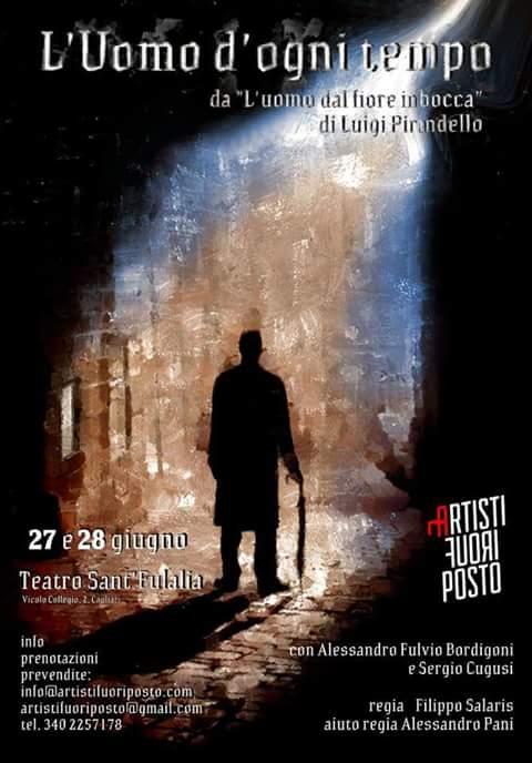 Locandina de L'uomo d'ogni tempo, tratto da l'uomo dal fiore in bocca di Luigi Pirandello